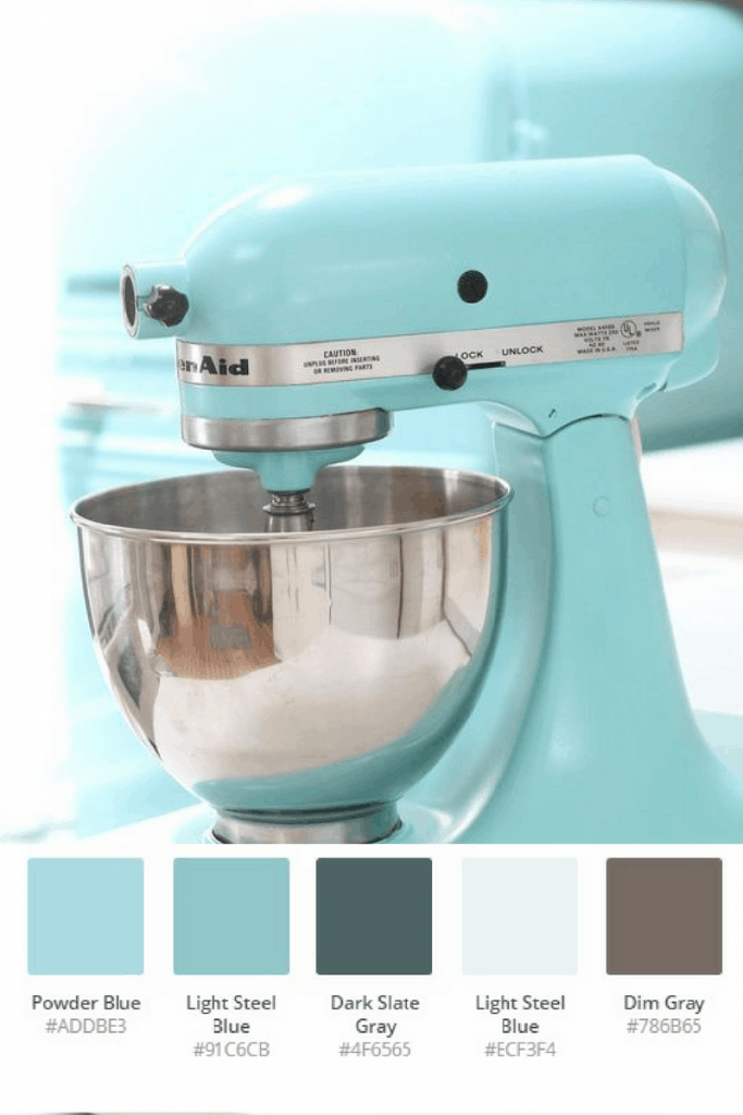 Duck Egg Blue Kitchenaid Color Scheme #kitchenaidcolorscheme