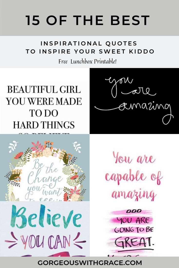 15 Awesome Inspirational Quotes For Kids Going Back to ...