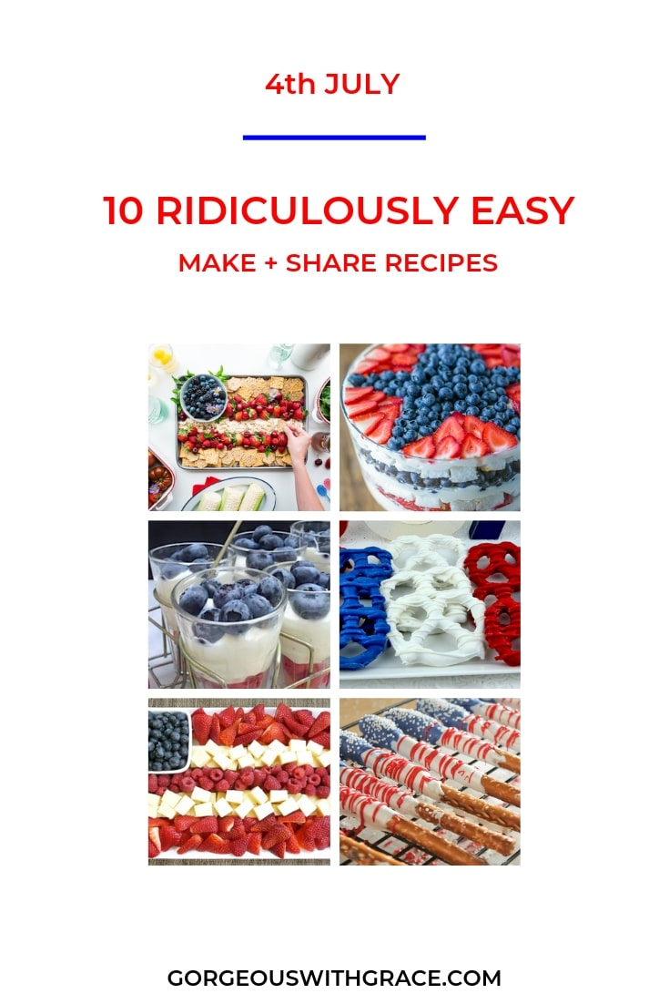 4th July Ridiculously Easy Make and Share Recipes  #4thjuly #4thjulyrecipes #4thjulyrecipestoshare