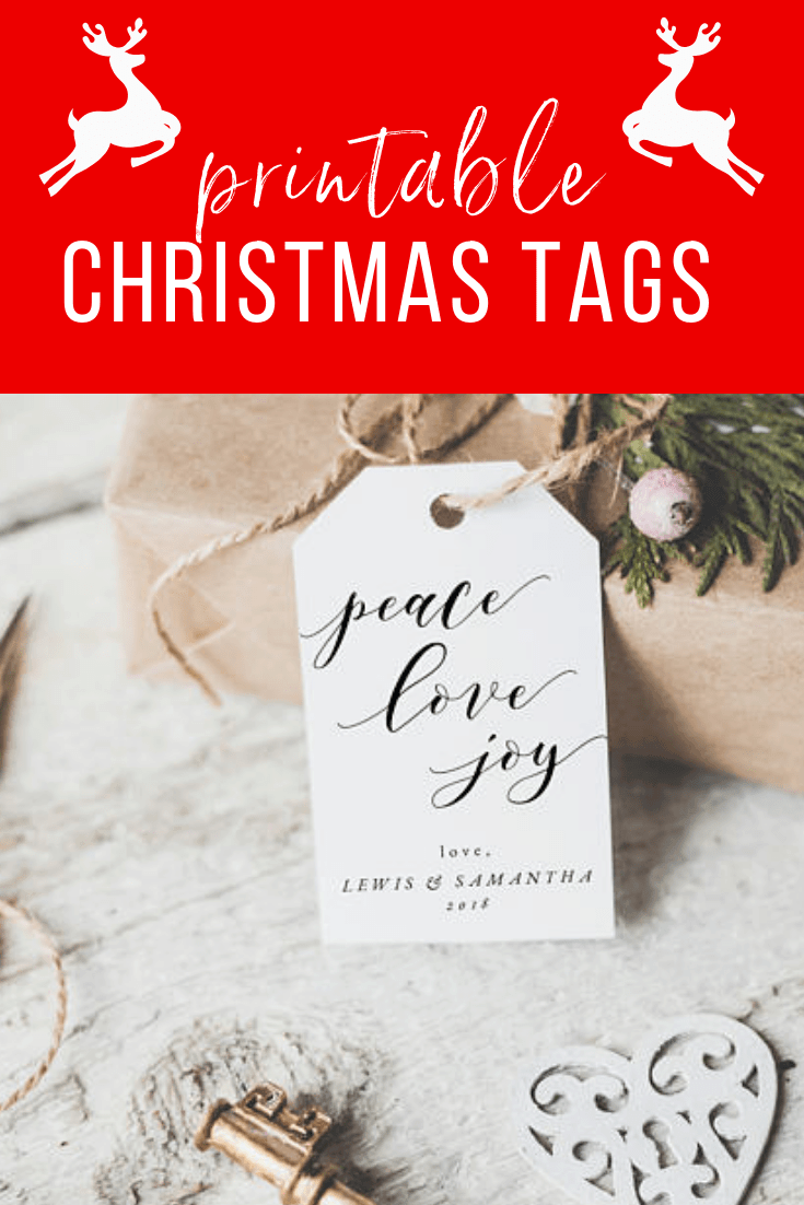 Super Cute Printable Christmas Tags From Etsy #etsy #printablechristmastags
