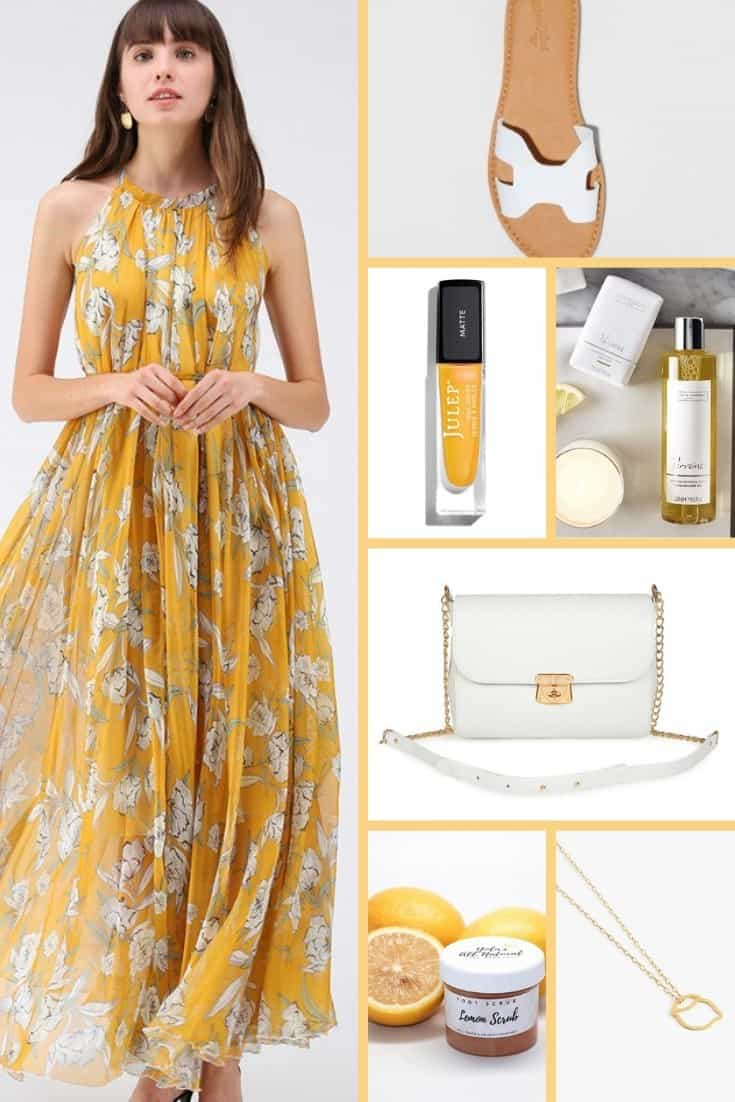 April Mood Board Sunny Yellow