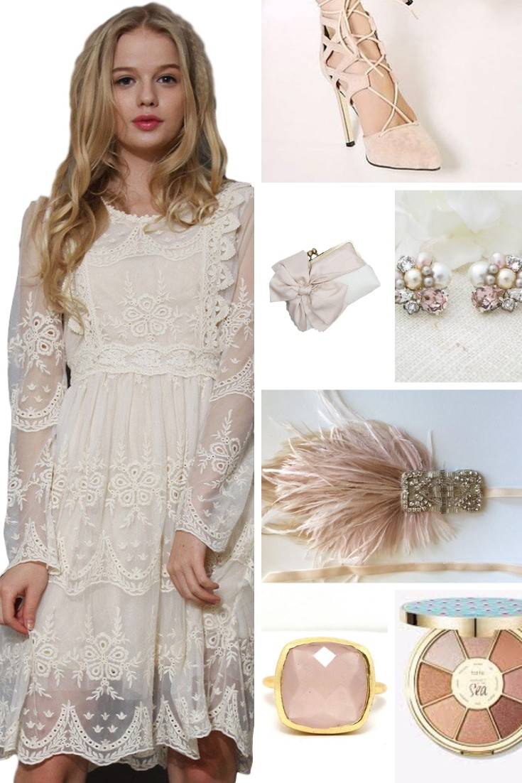 May Mood Board showing images for a neutral outfit