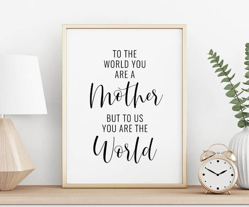 Printable Mother's Day Poster #DIYmothersdaygift #mothersdayunder$10