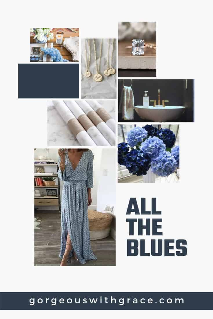 Blue Mood Board for June All The Blues